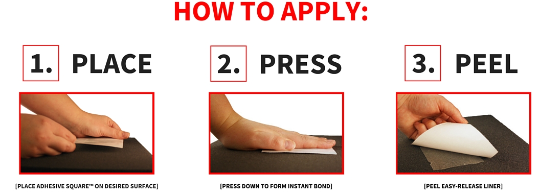 how to apply adhesive dots place press and peel